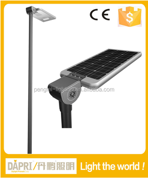 high efficiency lumen 105 lm/w All in one solar street lamp 30W