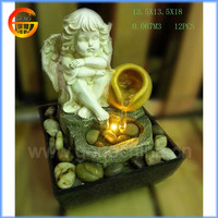 Home Decorative Resin Angel Water Fountain