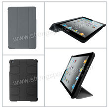 Rubber Stand Folding Smart Cover For iPad Mini