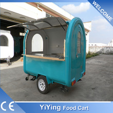 FR220B Yiying factory made brand new mobile folding trolley coffee hot dog cart grill trailers
