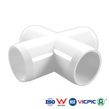 pvc cross joint pipe fitting Schedule 40 ASTM D 2466 NSF Approved