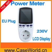 EU Plug Monitor Analyzer Power Energy Meter Wattage Voltage Current Frequency Power Factor LCD Display