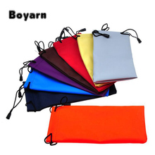 Waterproof leather plastic sunglasses pouch soft eyeglasses bag glasses case many colors mixed 5/10 / lot 18 * 9CM