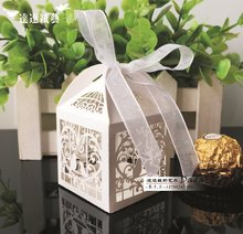 XTH30 Hollow candy box <strong>wedding</strong> for parties, official ceremony, and parties with usage of laser cut technology