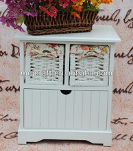 Small lovely unique bedroom furniture white nightstand made in China