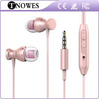 C-01 Streao Metal wired Headphone With Microphone High Quality Bass Mobile Earphone 3.5mm sport Headset cheap price