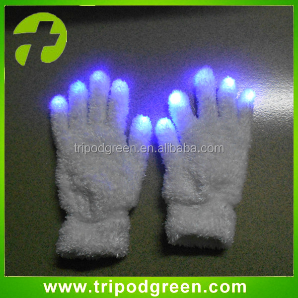 Hot Sale Party Items Custom LOGO Glowing LED Gloves for New Year