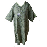 Hospital clothing for patients 65/35cotton polyester fabric non disposable hospital gowns /wholesale hospital patient gowns
