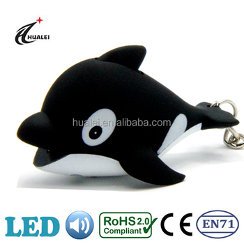 Whale Sound LED Animal Keychain Light Toy