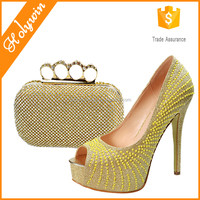 Hot women large size high heels 42 43 44 45 46 italian shoes and bag from Alibaba women shoe factory