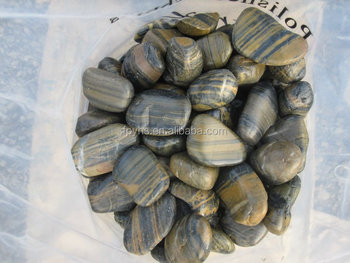 landscaping polished stripe garden pebbles