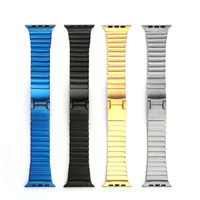for apple watch 38/42mm, Hard stainless steel butterfly lock closure link band for apple watch strap