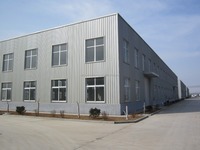 high quality prefabricated steel structure car painting workshop