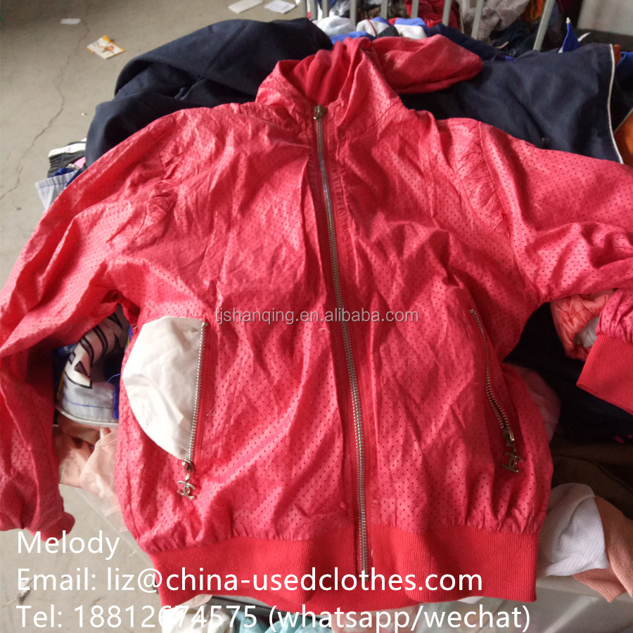 used clothes/used children waterproof coat