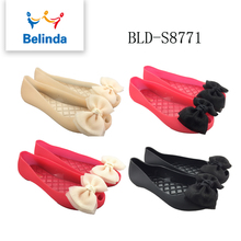 new arrive pvc casual jelly women slip on shoes with 4 color size