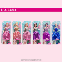 83284 Ginni doll Fashion Shiny party princess Dress up doll with six types for choose