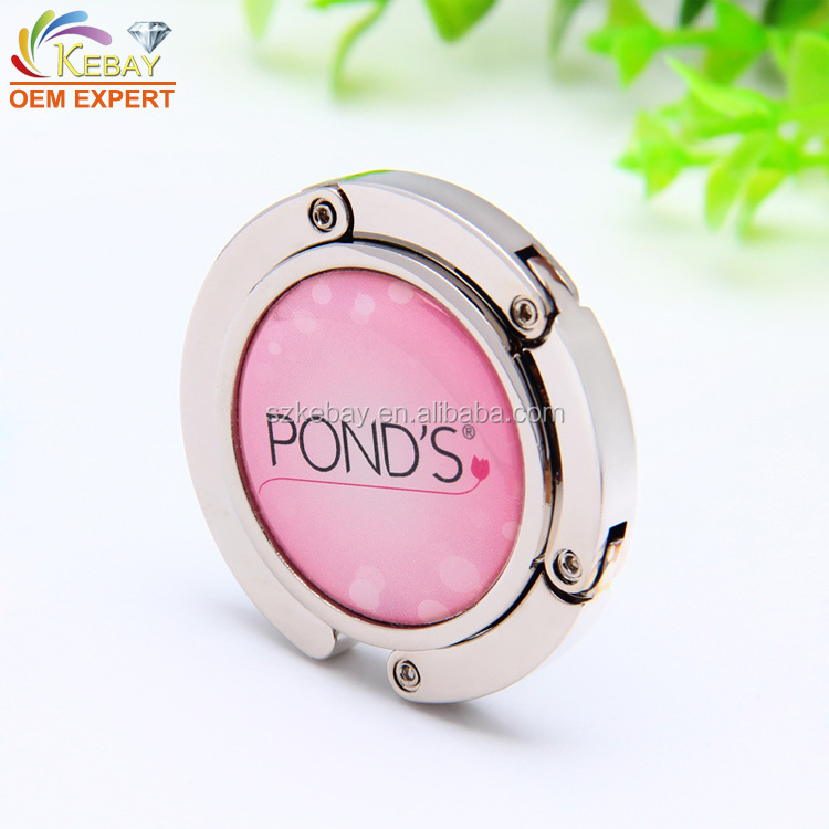 High quality cheap round custom purse hooks for tables