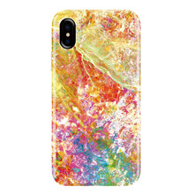 Rainbow Multicolor Marble Pattern Cell Phone TPU Case for iPhone X , for iPhone 10 Granite Case