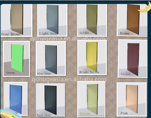 Pink, Gold, Bronze, Blue, Green, Grey Tinted Mirror, Colored Mirror