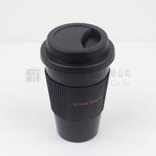 Wholesale shaker cup,Black plastic coffee cup