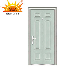 SC-S055 Beige/White Steel Door Entry Door Fancy Front Door Designs