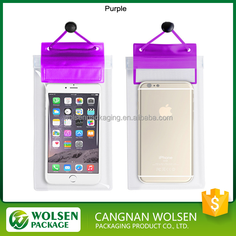 2016 best sell new style customized pvc waterproof phone bag wholesale