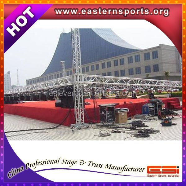 ESI special offer concert entertainment equipment bolt roof concert truss system with stage platform