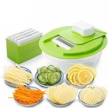 Mandoline Vegetable Slicer and Dicer Fruit Cutter Slicer With 4 Interchangeable Blades
