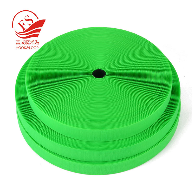 Wholesale easy peel super strong shear strength sewing hook loop slitting strapping with plastic core