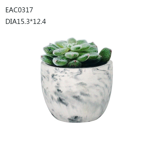 Concrete flower pots & planters, pot painting designs