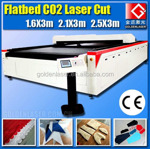 autofeed flatbed laser cutting for fleece and nonwoven fabric