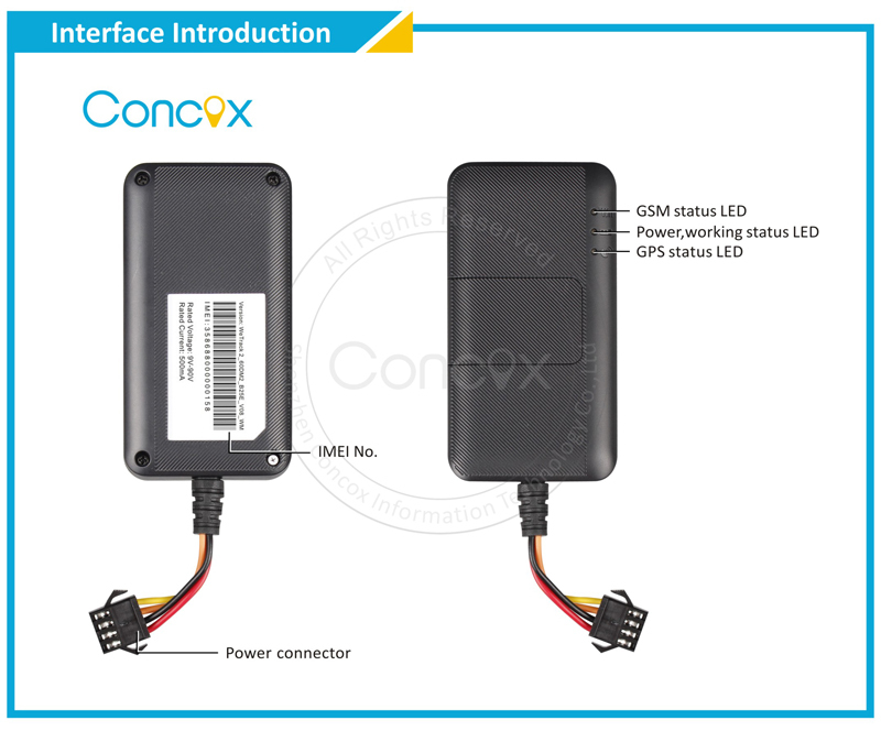 2015 New Product! General Super Mini GPS Vehicle Tracker with Wide Voltage Range Apply to All Vehicle Types Concox WeTrack 2