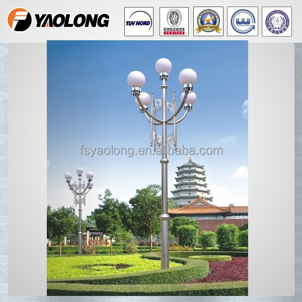 outdoor decorative stainless steel lighting poles