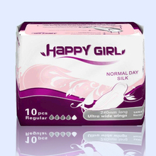 Double Wings Printed Sanitary napkin tampon pads for ladies and school girls