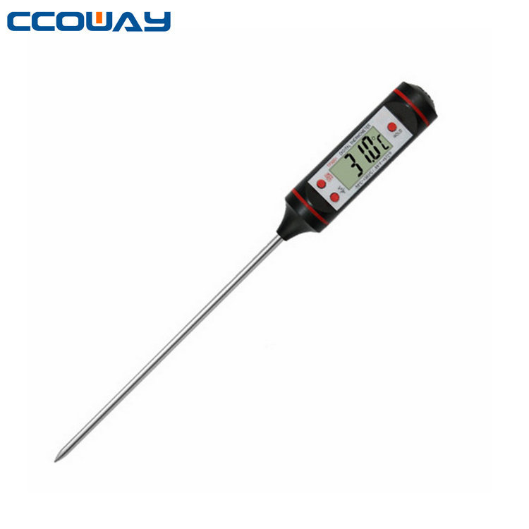 Digital Food Cooking Meat Thermometer Candy thermometer Quick Read, Pocket sized, Waterproof, up to 572 f (300 c), F/C Button