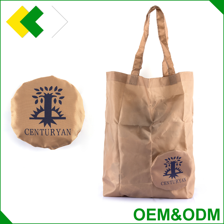 Customized eco friendly tote polyester shopping bag reusable portable fabric polyester foldable bag