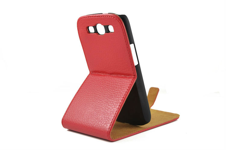 Credit Card slot wallet leather case for samsung galaxy s3, for samsun s3 leather case