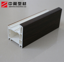 Best wood plastic composite window frame vinyl window extrusions hollow profile