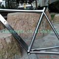 55cm titanium road bike frame customize 55cm road bicycle frame made XACD Ti cyclocross bike frame