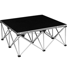 Shape height customized aluminum portable stage for wedding concert