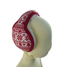 Thicken knitted snowflake cartoon earmuffs