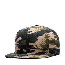 Dotted Military Green Camouflage Ventilate Cap Green Ventilate Baseball Cap with Flat Visor 100% Cotton