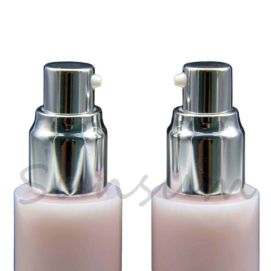 PET plastic pearly-lustre bottle for oil cosmetic packaging