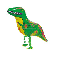 Kids toy animal dinosaur shape pet walking foil ballons helium balloons