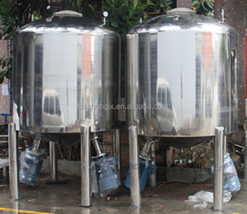Guangzhou Desheng industry machinery and equipment high quality Stainless Steel Storage Tank for ketchup mayo soft drink beverag