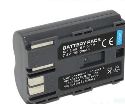 perfect Replacement BP-511A Battery for Canon EOS 300D 10D 20D 30D 40D 50D 300D D30 D60