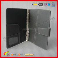 Factory Direct Supply Cheap Price Personalized Leather Notebook Covers, Faux Leather 6-Ring Binder Notebook Covers