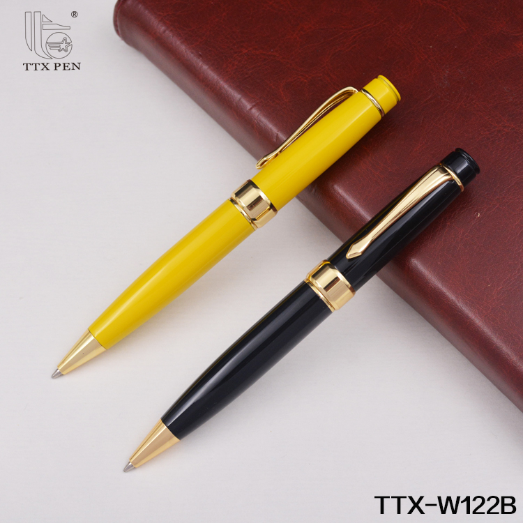New products office and school promotion gold and black pens imprint