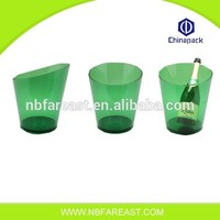Factory wholesale custom night club bar plastic ice bucket, champagne/ beer ice bucket
