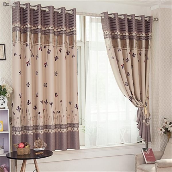 Modern French Style Printing Blackout Window Curtains